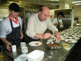 Plating up dessert at Methodist Ladies' College: