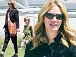 Model mom! Julia Roberts takes a day off her acting duties to chaperone son Henry on a school trip to the Natural History Museum