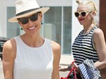 Hot mamas! Minnie Driver, 43, and Gwen Stefani, 43, show off toned arms as they bring sons to annual Memorial Day bash