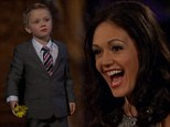 BACHELORETTE SEASON PREMIERE: He¿s a bit young isn¿t he? Bachelor brings out his son in attempt to woo bride Desiree Hartsock