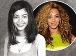 No awkward phase here! Beyonce looks picture perfect as a glossy young teen in her High School yearbook