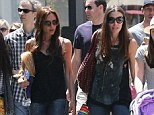 Spot the difference: Tana Ramsay continued her transformation into Victoria Beckham's clone as she wore an eerily similar outfit to the star during a shopping trip at The Grove in Los Angeles on Monday
