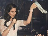 The Tom Jones treatment: Lana Del Rey had a pair of knickers thrown at her as she performed on stage at Dublin's Vicar Street music venue on Monday night