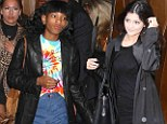 Don't tell Dad! Willow Smith enjoys pizza with Kylie Jenner... after her father Will's fury at being compared to the Kardashians