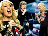 Carrie Underwood is the ultimate fan as she hits the stage with the Rolling Stones for 'one of the greatest nights' of her life