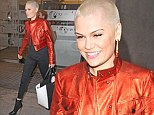 No red eyes here... just a red jacket! Jessie J cuts a colourful figure for early morning radio interview as she promotes new single WILD
