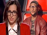 SPOILER ALERT: Usher dons nerdy glasses to support his protege Michelle Chamuel as she wins 'best song of the night' on The Voice