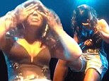 Time out: Kelly Rowland was overcome with emotion on Sunday while performing her new song Dirty Laundry in Washington D.C. and had to gather herself and wipe away tears before resuming