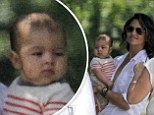 Meet my baby boy! Camila Alves shows off five-month-old son Livingston as she supports husband Matthew McConaughey in New Orleans