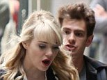 Attaboy! Andrew Garfield chases after Emma Stone and steals an intimate kiss on set of The Amazing Spider-Man 2