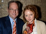Plush: Google chief Eric Schmidt Eric Schmidt and Lily Cole are pictured at the event