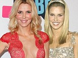 Surgery secrets: Brandi Glanville, pictured here in April, has had a 'liquid nose job', Botox and fillers in her cheeks. She has also had a boob job and 'vaginal rejuvenation'