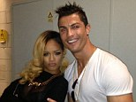 Pleased to meet you: Cristiano Ronaldo hangs out with Rihanna after a concert on Tuesday night