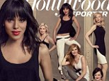 Kerry Washington bares toned midriff as she talks weight and babies with TV's hottest leading ladies