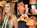 Photographs of Prince Harry's girlfriend Cressida Bonas have emerged of her on the town