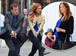 Don't forget your baby! Unforgettable star Poppy Montgomery is back on set filming action scenes one month after giving birth
