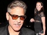 'I wasn't holding anybody's hand': George Clooney denies getting close to former model flame as rumours of a split with girlfriend Stacy Keibler intensifies