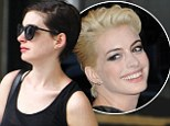 Back to brown! Anne Hathaway debuts her newly brunette locks after bleaching it blonde for the Met Ball