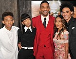 A family affair: All the Smiths turned out to support Will and Jaden's new film Aftre Earth in New York on Wednesday evening