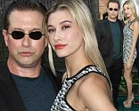 Proud father Stephen Baldwin walks arm-in-arm through New York City with daughter Hailey to the After Earth premiere