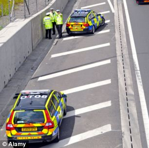 Road closed: Emergency services shut the motorway overnight but it was reopened by 7.30am (file photo)