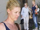 So that's her secret! Natural beauty Katherine Heigl goes completely make-up free as she heads to the beauty salon with her mother Nancy