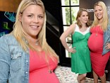 t's likely that pregnancy was the subject of the day, as Busy posed with mother-to-be Anna Chlumsky at the bash.