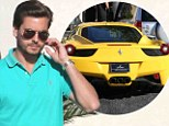 scott disick yellow ferrari