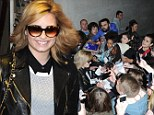 Demi Lovato greets fans outside Radio 1