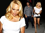 Pamela Anderson flaunts her pins in tiny shorts on dinner date with mystery bearded man