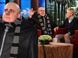 Steve Carell dresses up as his character Gru to promote Despicable Me 2 on The Ellen DeGeneres Show