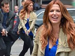 What happened to maternity leave? Poppy Montgomery is back filming action scenes... just a month after giving birth