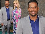 A new Fresh Prince (or princess)? Alfonso Ribeiro shows off his pregnant wife to Bel-Air co-stars Will Smith and DJ Jazzy Jeff