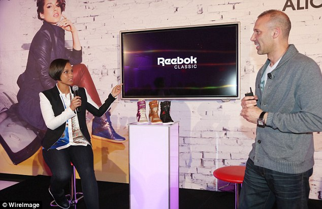 Explaining the inspiration: Alicia took to the microphone to discuss her ideas behind the latest range