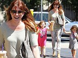 Girls' day out: Alyson Hannigan brings daughter Satyana and a little friend for an afternoon treat