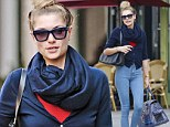 Australian model Jessica Hart carries her oversized bag while out with a female pal in the East Village in New York City