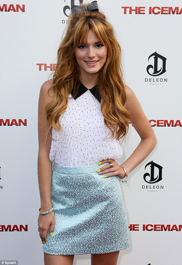 Every rose has its Thorne: And Bella was certainly fragrant on the red carpet at the premiere