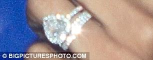 Bling: Rochelle flashed her new wedding band alongside her £45K engagement ring