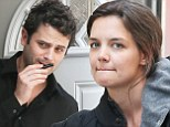 Burning the candle, Katy? Ms Holmes looks tired on the set of Mania Days with rumoured boyfriend Lee Kirby
