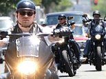 Rev your engines! Charlie Hunnam and the black leather-clad cast of Sons Of Anarchy roll into town