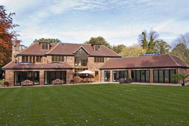 The couple's £5 million Surrey home, with Anthea has asked her husband of 12 years to leave