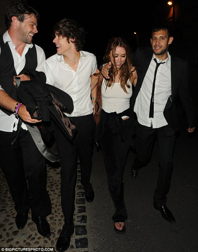 Everyone's in on the fun: They were joined by Una's husband Ben Foden, who also looked like he'd had a good time