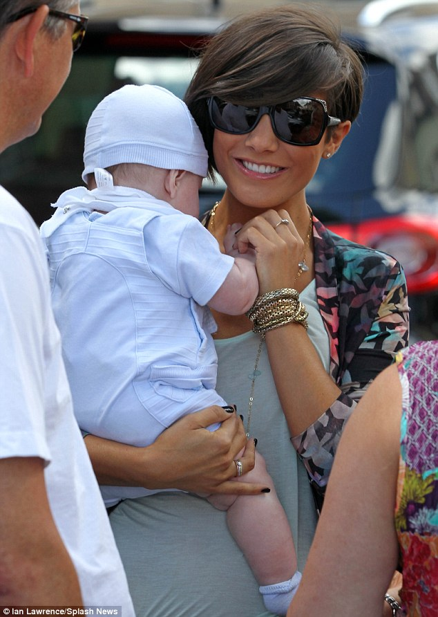 Feeling broody? Frankie Sandford cooed over a friend's baby as she looked refreshed while leaving the wedding behind