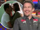 'Angelina Jolie was born to make men weak!' Ethan Hawke reveals former co-star was his 'best ever' kiss