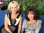 Bringing the glam to the Costa Del Sol: Joan Collins with her Benidorm co-star Sherrie Hewson on location in Spain