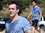 Pulling no paunches! The Office star BJ Novak is drenched in sweat after tough workout session in Los Angeles