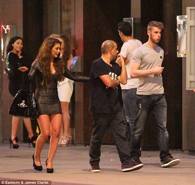 The Spanish connection: The victory party saw goalkeeper David De Gea being pursued by some eager fans