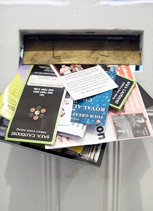 Nuisance: Almost half of all postal deliveries are junk mail, it was revealed yesterday