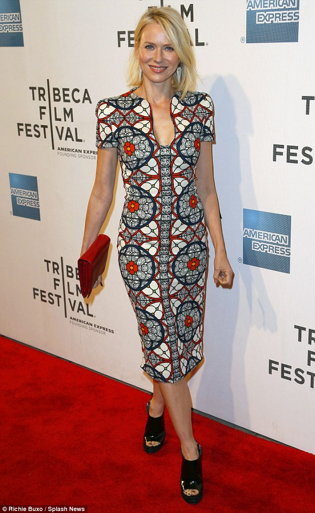 McQueen queen: The actress opted for the British fashion designer for her Tibeca Film Festival outfit on Saturday at the world premiere of Sunlight Jr. in NYC