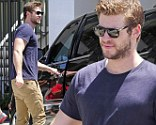 The Hunger Games star was seen with a slight smile across his face as he left a West Hollywood gym on Wednesday.
